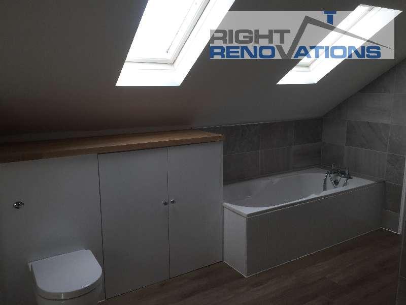 Right Renovations - Loft Conversion bathroom