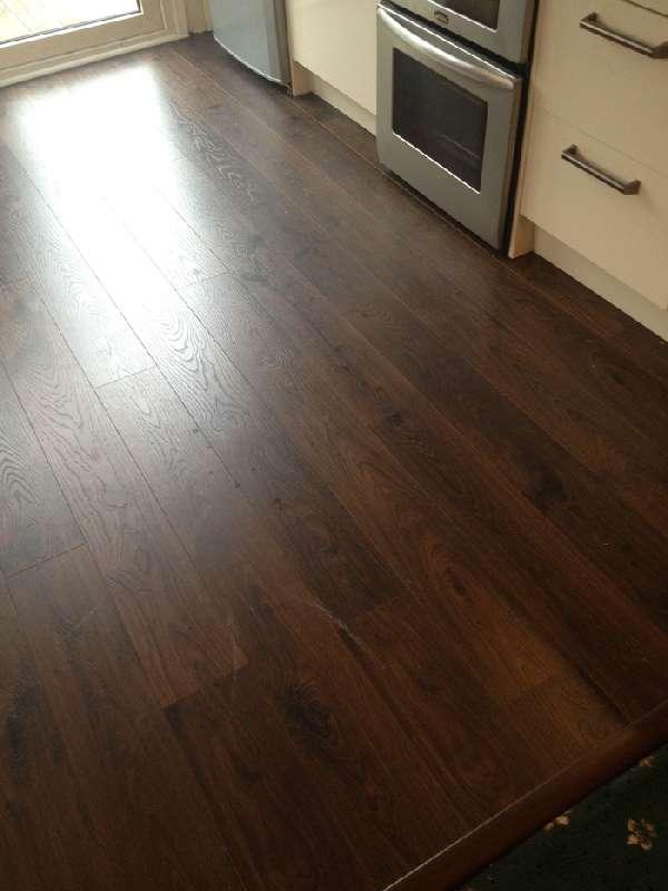 Right Renovations - Dark stained hardwood floor