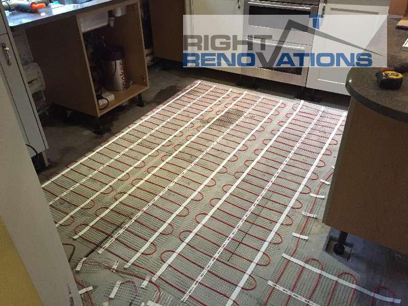 Right Renovations - Under floor heating